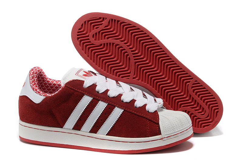 Men's/Women's Adidas Originals Superstar 2 Casual Shoes Red/White G02010