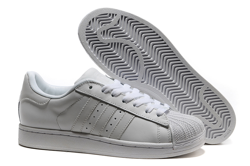 Men\'s/Women\'s Adidas Originals Superstar 2 Casual Shoes White 160337