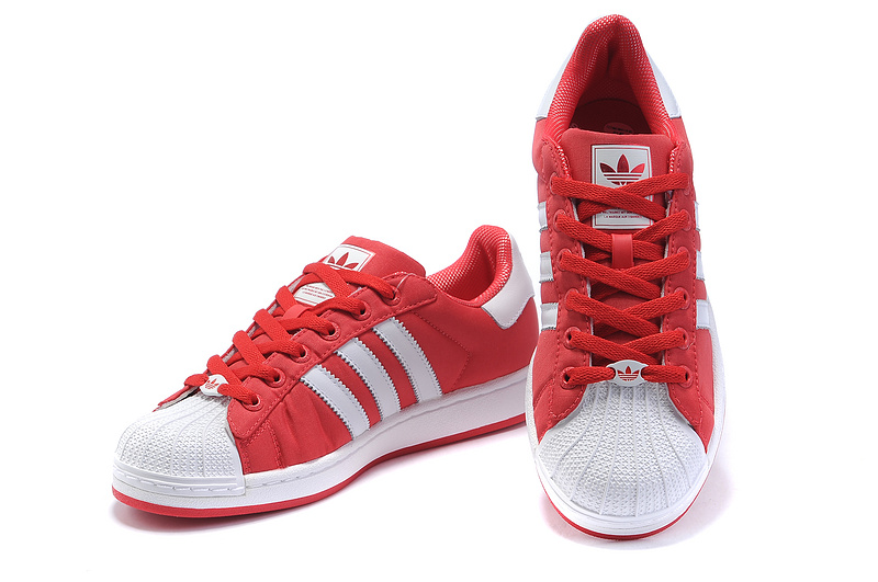 Men\'s/Women\'s Adidas Originals Superstar 2 Casual Shoes Red/White G42581