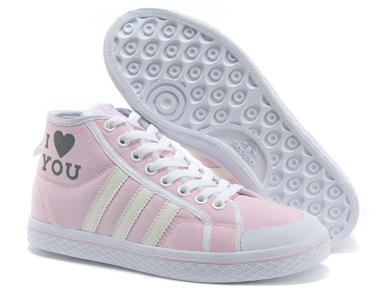 Women\'s Adidas Originals Honey Stripes Mid W Casual Shoes Pink V13520