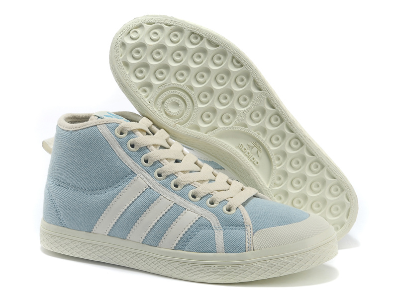 Women's Adidas Originals Honey Stripes Mid W Casual Shoes Blue V13513