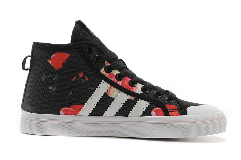 Women\'s Adidas Originals Honey Mid Stripes Print Casual Shoes Black D65969