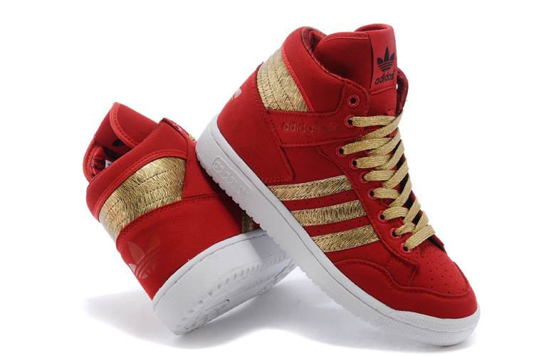Men\'s/Women\'s Adidas Originals PRO CONFERENCE HI Casual Shoes Red D65939