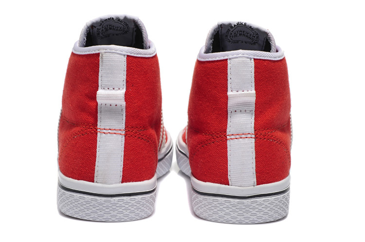Women\'s Adidas Originals Honey Stripes Mid W Casual Shoes Red/White Q23318