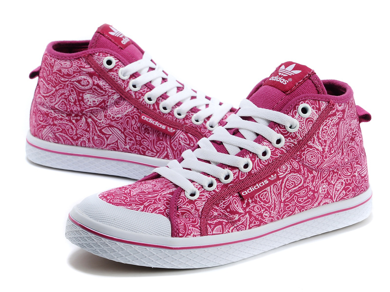 Women\'s Adidas Originals Honey Mid W Print Casual Shoes Pink G63047