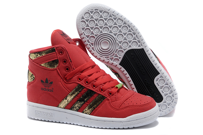 "Men's/Women's Adidas Originals DECADE OG MID ""Year of the Snake"" Casual Shoes Red/Gold Q35132"