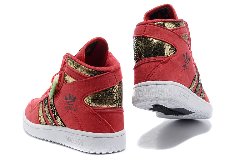 "Men\'s/Women\'s Adidas Originals DECADE OG MID ""Year of the Snake\"" Casual Shoes Red/Gold Q35132"