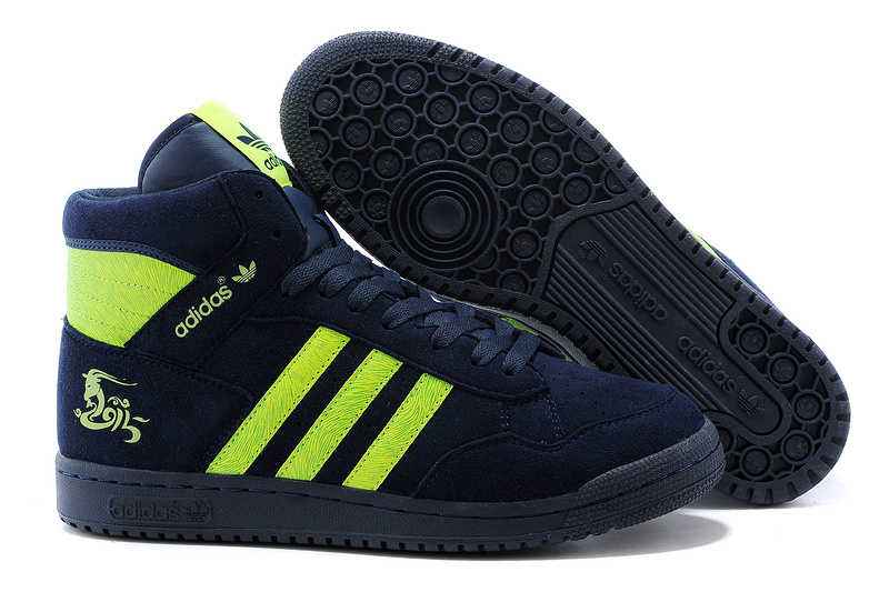 Men's/Women's Adidas Originals PRO Conferen HI CHY Casual Shoes Navy Green G15688