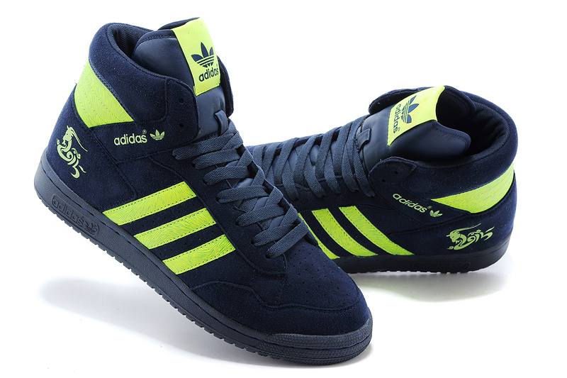 Men\'s/Women\'s Adidas Originals PRO Conferen HI CHY Casual Shoes Navy Green G15688