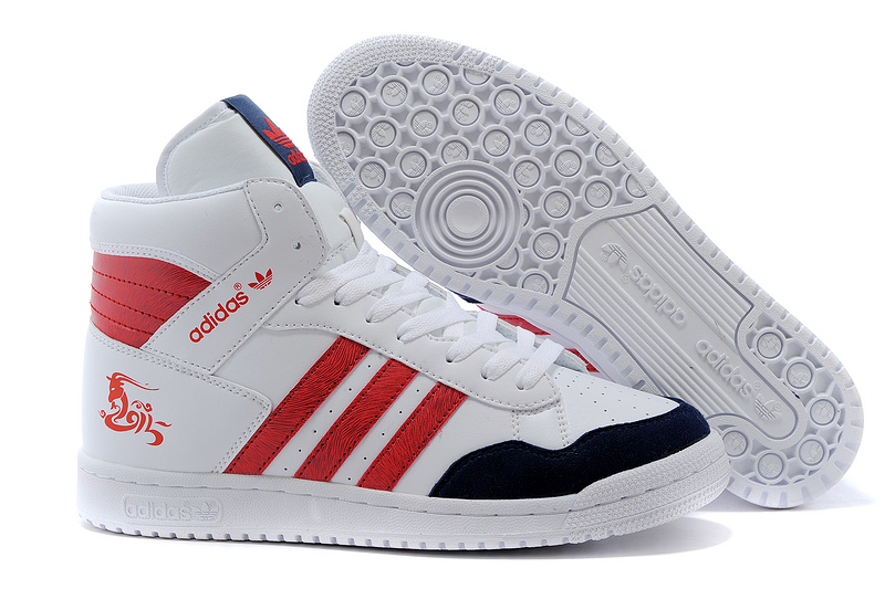 Men's/Women's Adidas Originals PRO Conferen HI CHY Casual Shoes White/Navy/Red G15689