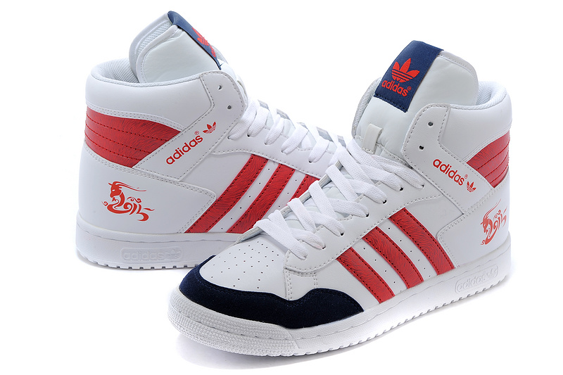 Men\'s/Women\'s Adidas Originals PRO Conferen HI CHY Casual Shoes White/Navy/Red G15689