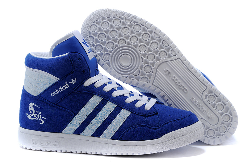 Men's/Women's Adidas Originals PRO Conferen HI CHY Casual Shoes Royal/White G15685