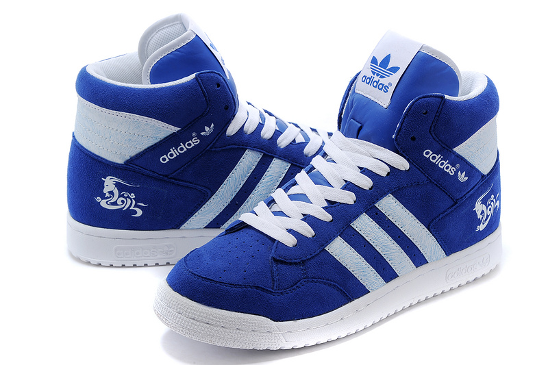 Men\'s/Women\'s Adidas Originals PRO Conferen HI CHY Casual Shoes Royal/White G15685