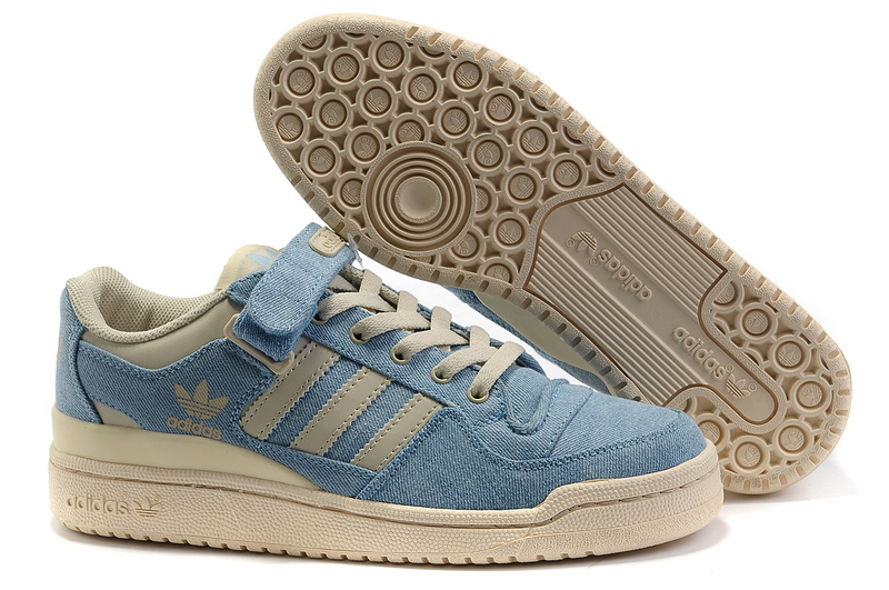 Men's/Women's Adidas Originals Forum Lo Rs Casual Shoes Jeans Blue White G14038