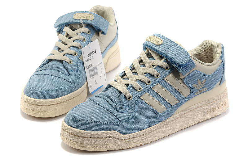 Men\'s/Women\'s Adidas Originals Forum Lo Rs Casual Shoes Jeans Blue White G14038