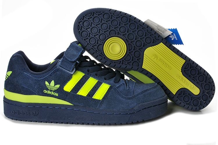 Men's/Women's Adidas Originals Forum Lo Rs Casual Shoes Navy / Yellow G44972