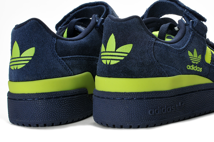Men\'s/Women\'s Adidas Originals Forum Lo Rs Casual Shoes Navy / Yellow G44972