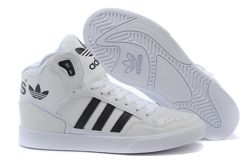 Men's/Women's Adidas Originals Extaball High Top Leather Basketball Shoes White/Black M20864