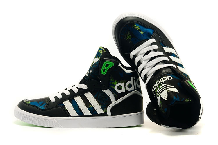 Men\'s/Women\'s Adidas Originals Extaball High Top Leather Basketball Shoes Black M19462