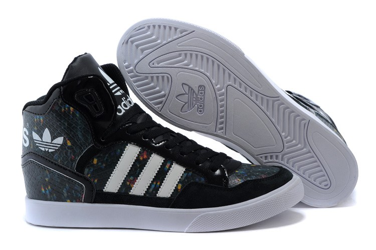 Men's/Women's Adidas Originals Extaball High Top Leather Basketball Shoes Core Black B35643