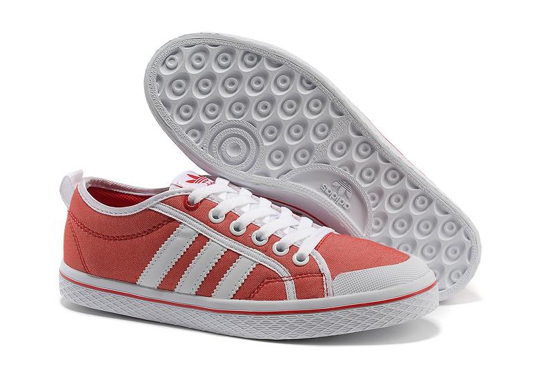 Women's Adidas Originals Honey Stripes Low Casual Shoes Red/White Q23321