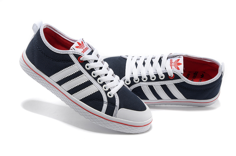 Women\'s Adidas Originals Honey Stripes Low Casual Shoes Ink/Running White/Red Q23323
