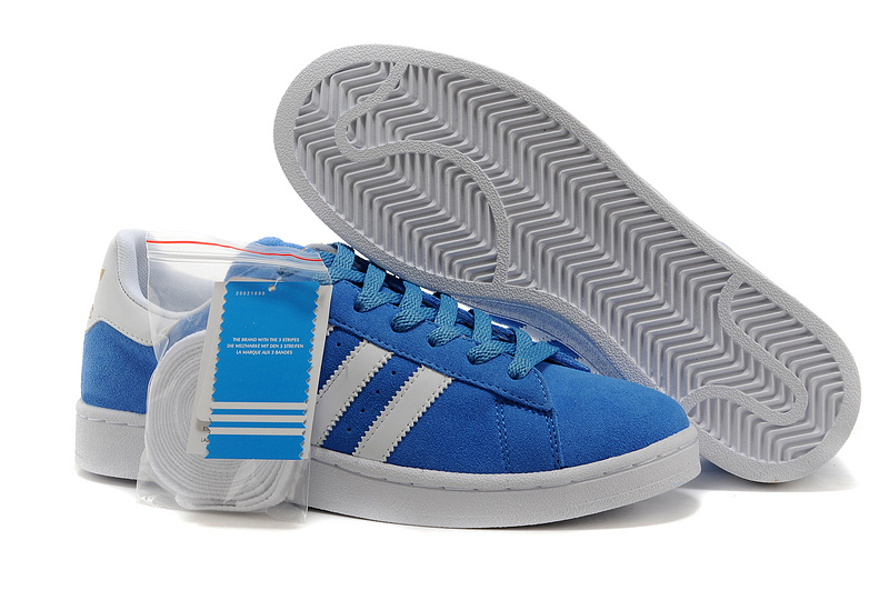 Men's/Women's Adidas Originals Campus 80s Casual Shoes Royal/White