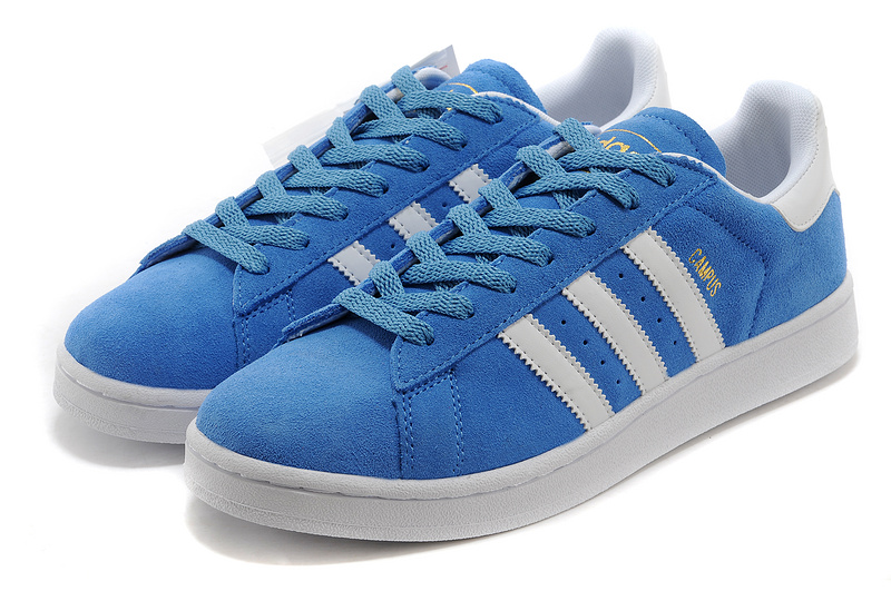 Men\'s/Women\'s Adidas Originals Campus 80s Casual Shoes Royal/White