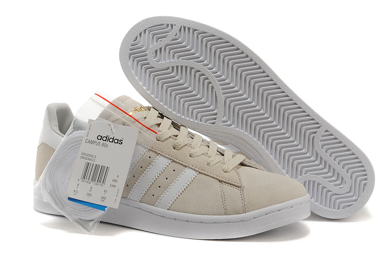 Men's/Women's Adidas Originals Campus 80s Casual Shoes Beige/Gold