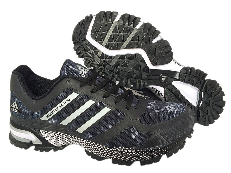 Men's Adidas Marathon Print 3D Running Shoes Core Black/Running White