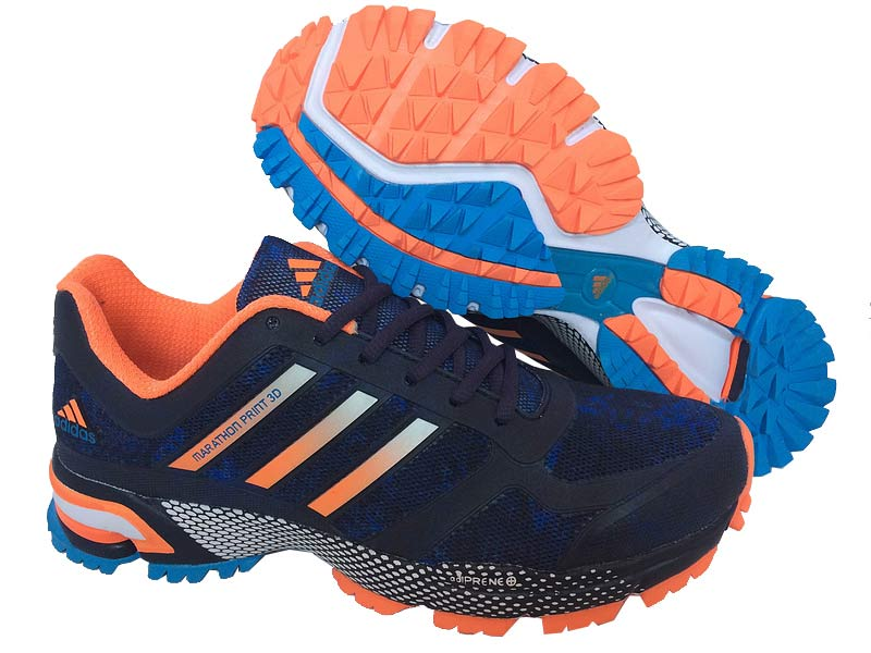 Men's Adidas Marathon Print 3D Running Shoes Violet/Orange/Ultramarine