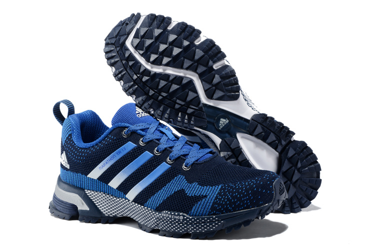 Men's/Women's Adidas Marathon TR 13 Running Shoes Navy/Bold Blue V21838