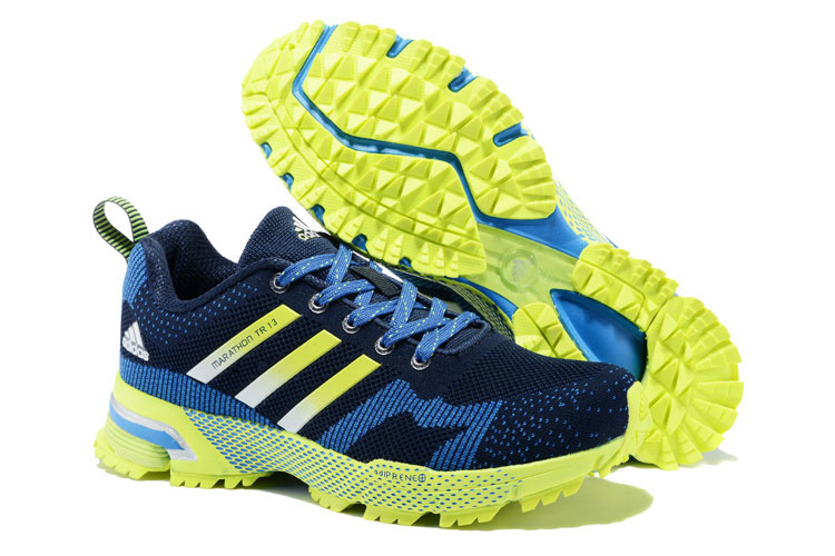 Men's Adidas Marathon TR 13 Running Shoes Navy/Bold Blue/Fluorescent V21833