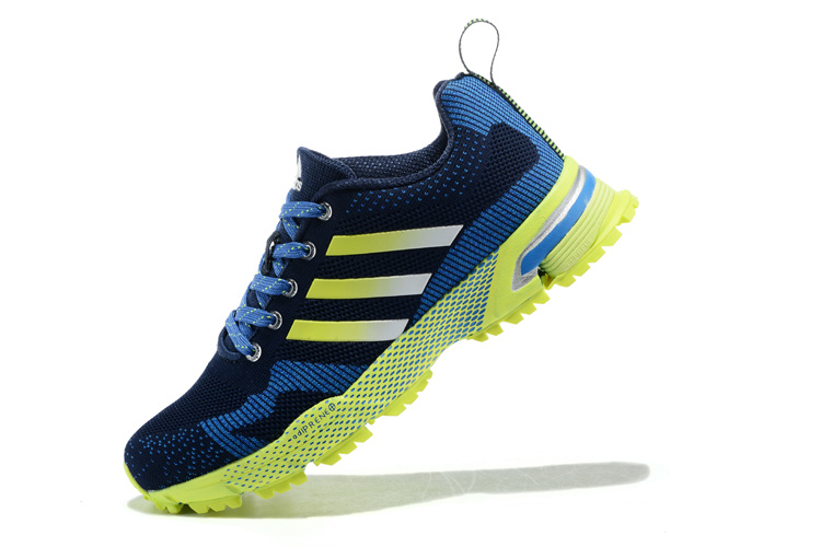 Men\'s Adidas Marathon TR 13 Running Shoes Navy/Bold Blue/Fluorescent V21833