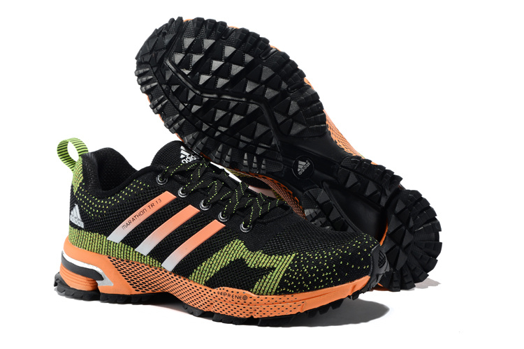 Men's Adidas Marathon TR 13 Running Shoes Core Black/Green/Orange V21837