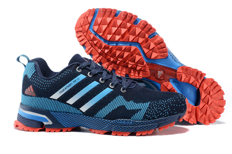 Men's Adidas Marathon TR 13 Running Shoes Navy/Blue/Crimson V21831