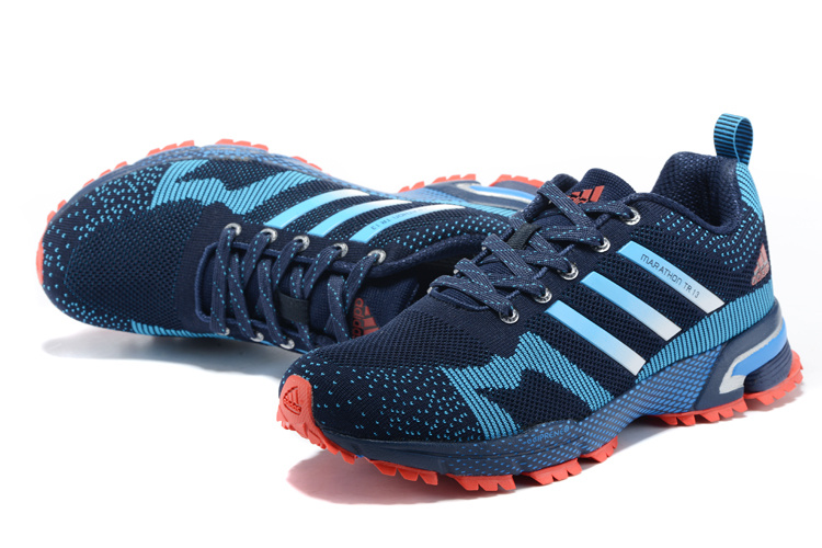 Men\'s Adidas Marathon TR 13 Running Shoes Navy/Blue/Crimson V21831