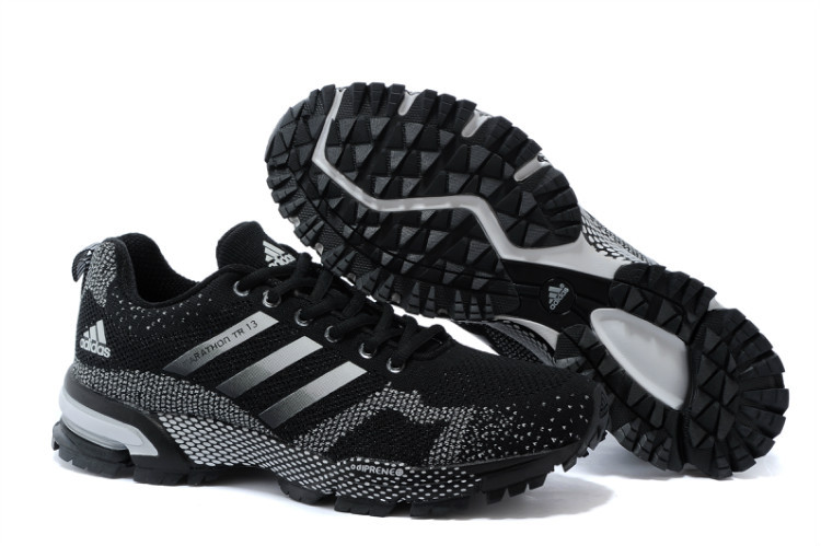 Men's/Women's Adidas Marathon TR 13 Running Shoes Core Black/White V21832