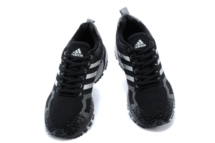 Men\'s/Women\'s Adidas Marathon TR 13 Running Shoes Core Black/White V21832