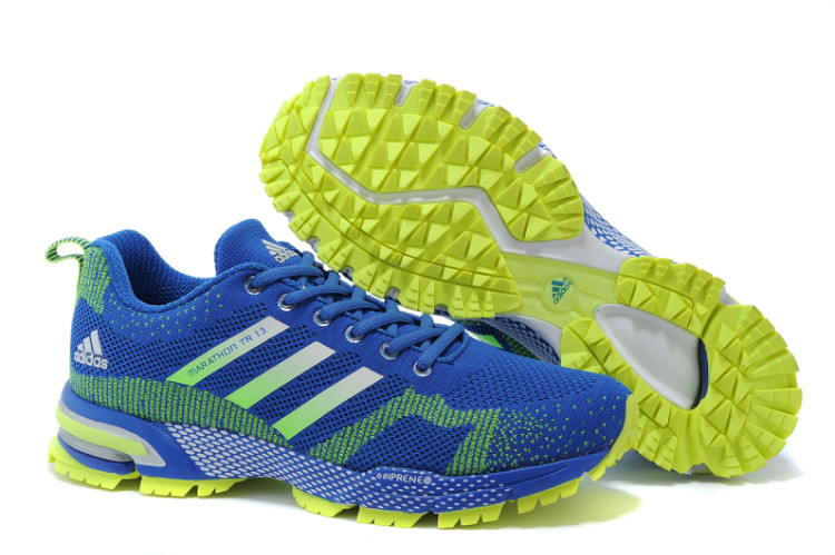 Men's Adidas Marathon TR 13 Running Shoes Bold Blue/Fluorescent Green V21833