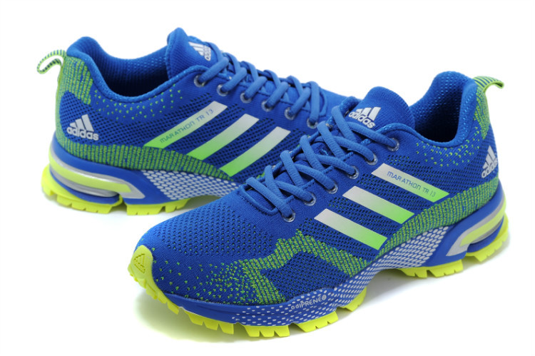 Men\'s Adidas Marathon TR 13 Running Shoes Bold Blue/Fluorescent Green V21833