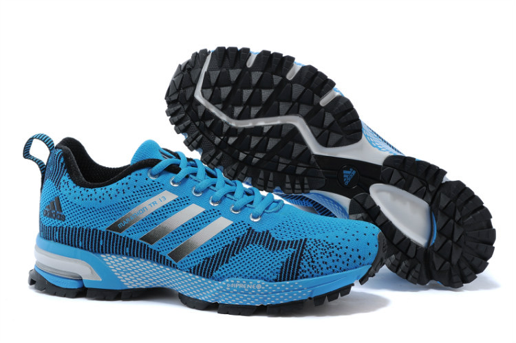 Men's Adidas Marathon TR 13 Running Shoes Lake Blue/Black