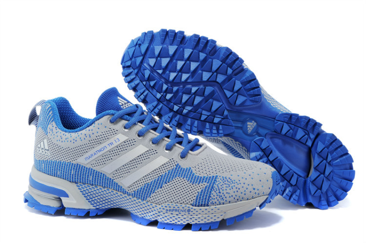 Men's Adidas Marathon TR 13 Running Shoes Light Grey/Blue