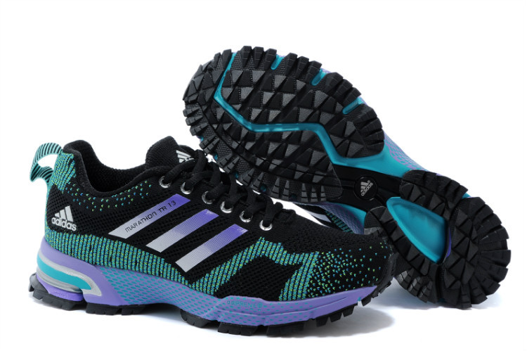 Women's Adidas Marathon TR 13 Running Shoes Black/Lake Blue/Purple V21840