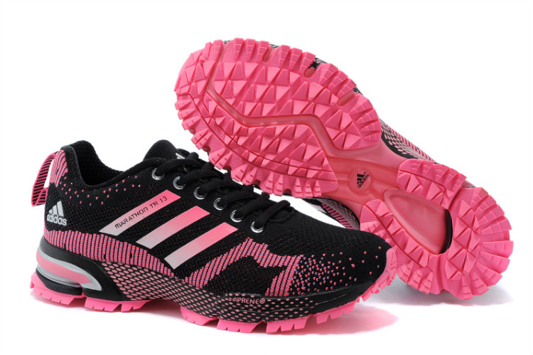 Women's Adidas Marathon TR 13 Running Shoes Black/Peach V21843