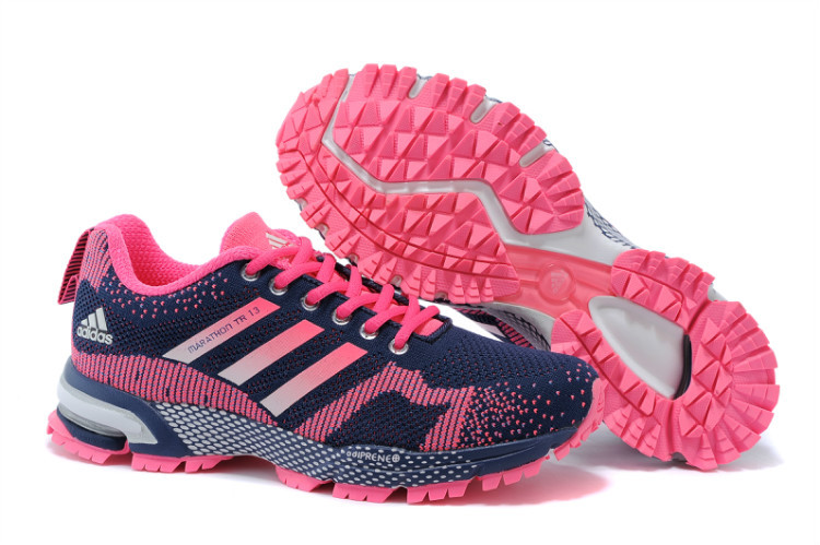 Women's Adidas Marathon TR 13 Running Shoes Black/Navy/Fuchsia V21844