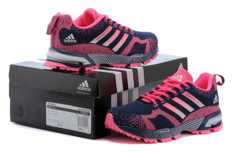 Women\'s Adidas Marathon TR 13 Running Shoes Black/Navy/Fuchsia V21844