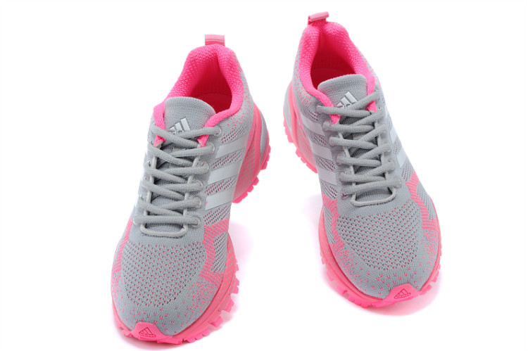 Women\'s Adidas Marathon TR 13 Running Shoes Light Grey/Pink V21847