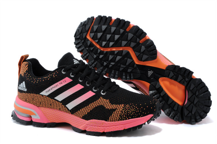Women's Adidas Marathon TR 13 Running Shoes Black/Orange/Fuchsia V21849