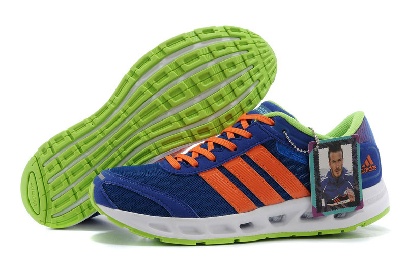 Men's Adidas Climacool Solution Running Shoes Bold Blue/Orange/Green V20351